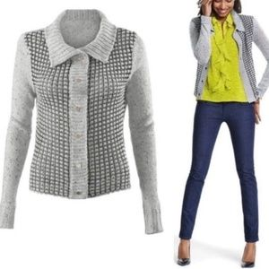 Cabi gray soft open knit cardigan